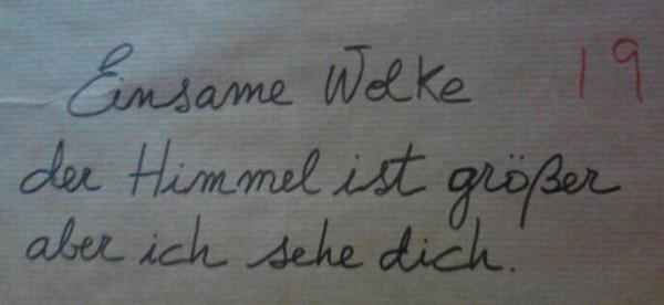 Mein Haiku (auf Deutsch)