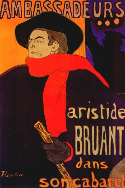 ARISTIDE BRUANT-PAR LAUTREC